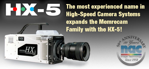 The most experienced name in High-Speed Camera Systems expands the Memrecam Family with the HX-5!