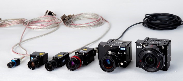 Photo of all MX system camera types/sizes