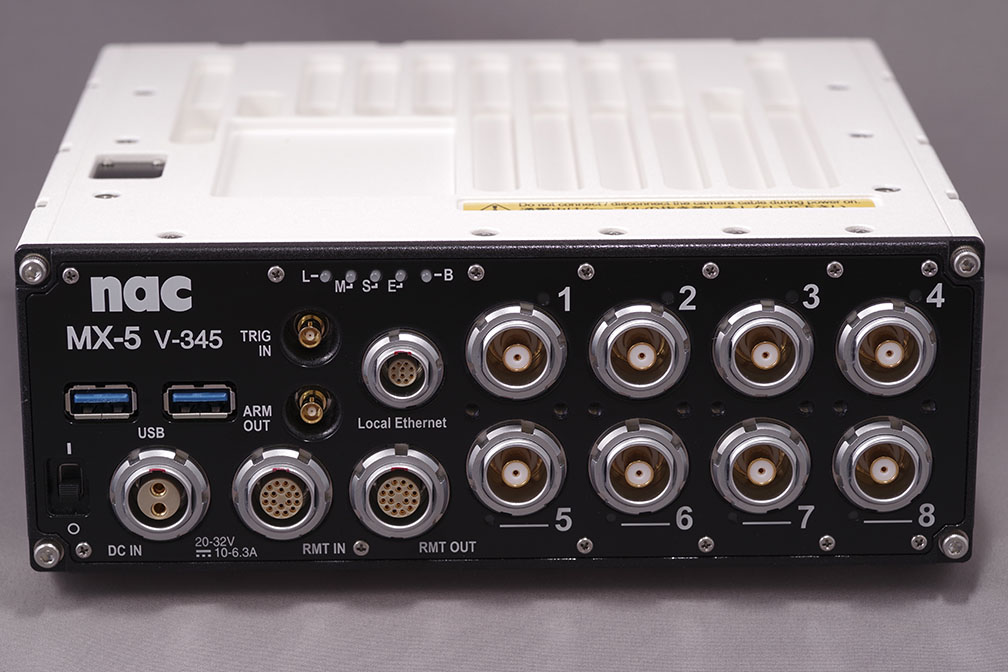 Front panel of MX-5 8ch Control Unit